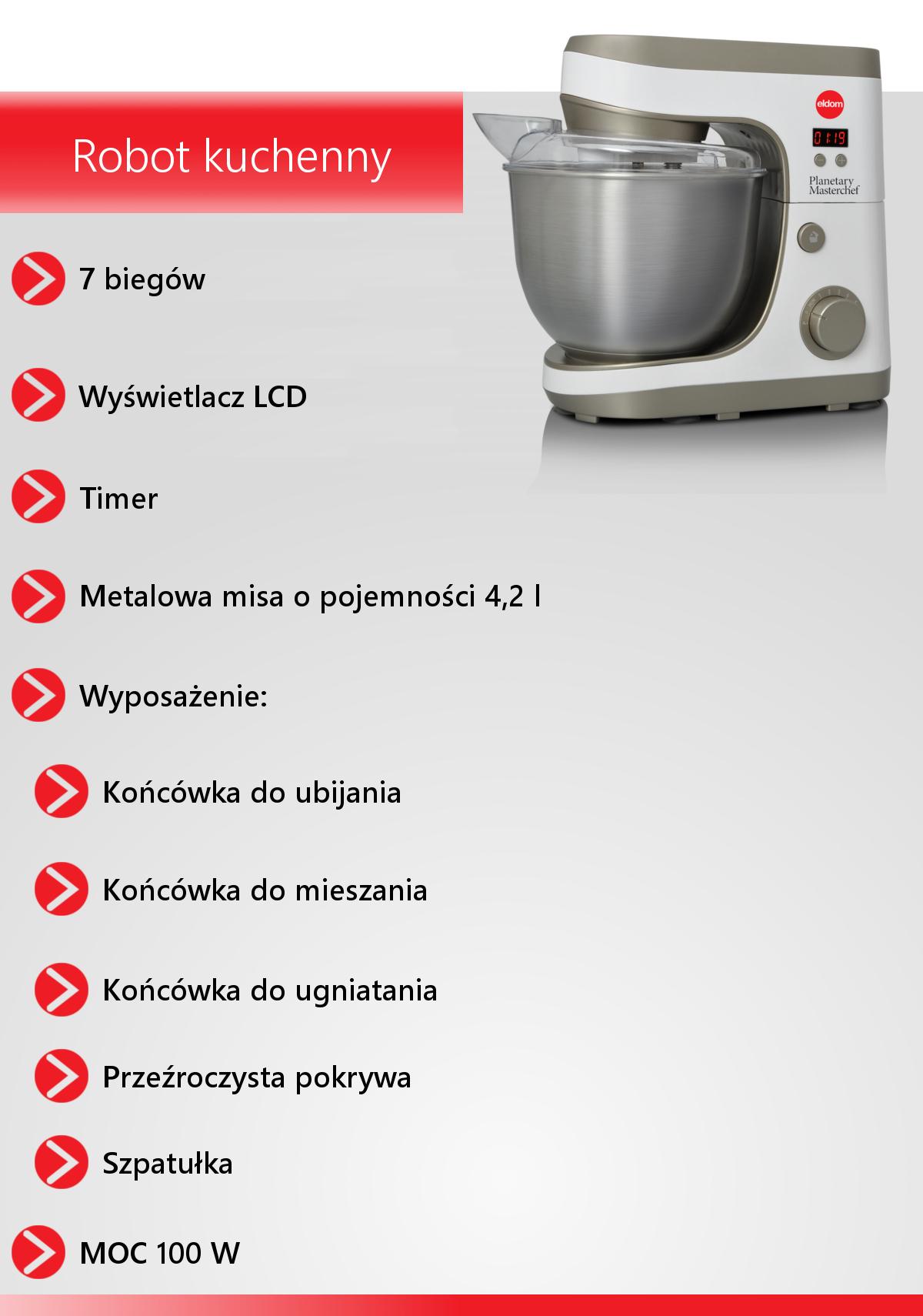 ROBOT KUCHENNY ELDOM WRK1100 MIKSER PLANETARNY
